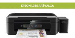 """""""EPSON L386"""" spausdintuvo apžvalga [VIDEO]"""